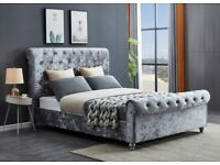 🔴🔵 DO NOT LET IT GO, SILVER AND GREY COLOUR DOUBLE BED FRAME ONLY, 195 GBP