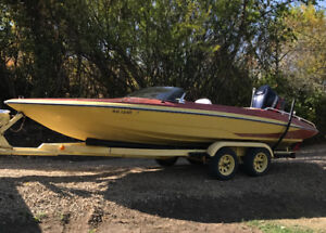 Boat, Motor, Boom and Trailer