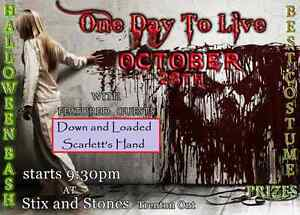 Halloween Party w/ 'ONE DAY TO LIVE'!!!