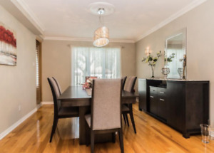 Bermex Dining Room Table, 6 Chairs and Buffet