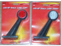 247 LIGHTING 2 x 60 DEGREE LED STALK LAMP LEFT & RIGHT SIDE 12/24V SHIP BOAT VAN TRUCK LORRY CAB