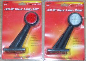 247 LIGHTING 2 x 60 DEGREE LED STALK LAMP LEFT & RIGHT SIDE 12/24V SHIP BOAT VAN