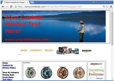 Affiliate Fishing Store Website For Sale Free Bonuses Free Set Upplus More