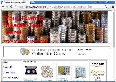 Affiliate Coin Collecting Website For Sale Free Bonuses Free Set Upplus More