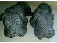 Bulldog garden ornaments