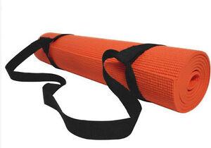 Black Ajustable Yoga Mat Sling Carrier Shoulder Carry Strap Belt 8/10/15mm 200CM