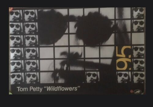 "TOM PETTY Wildflowers 24""x 36"" Promotional Tour Poster #3 (1995) Great shape!"