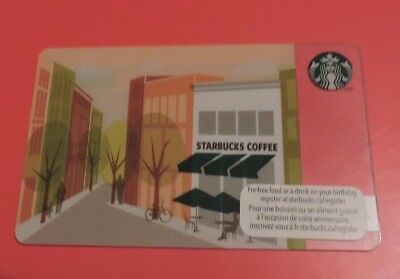 STARBUCKS CANADA CITY STORE 2013 GIFT CARD.NO VALUE COLLECTORS ITEM