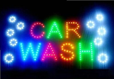 Led Business Car Wash Sign Open Bright Light With Onoff Switch Gas Station Neon