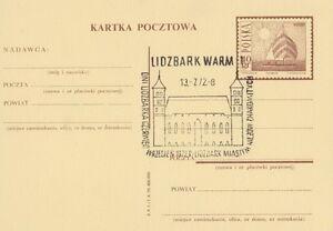 Poland postmark LIDZBARK WARMINSKI - days 1972 castle - <span itemprop=availableAtOrFrom>Bystra Slaska, Polska</span> - Poland postmark LIDZBARK WARMINSKI - days 1972 castle - Bystra Slaska, Polska