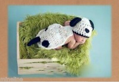 ★★★ NEU Baby Fotoshooting Kostüm niedlicher Hund Dalmatiner Nr. M1★★★ ()