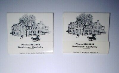 Old Talbott Tavern Food & Lodging Matches 2 Books New