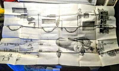 Vintage Railroad: Circa 1920 Westinghouse Airbrake original diagram/poster