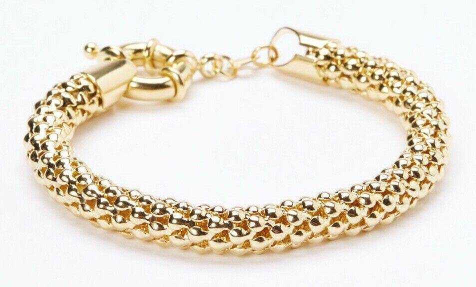 18k gold plated popcorn chain bracelet