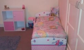 Toddler Bed with mattress and storage cube