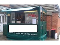 Street Food Catering Trailer with New Hitch and Wheels 8.5ft x6ft