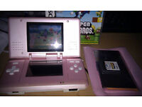Pink Original DS with charger and games and case