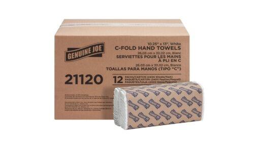 Premium 2-Ply C-Fold Paper Towels, White, 2400 / Carton (Quantity)