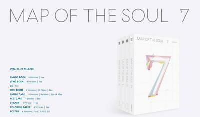 BTS MAP OF THE SOUL : 7 ALL VER. 4 CD + 4 PHOTOCARD + 4 POSTER IN TUBE CASE NEW