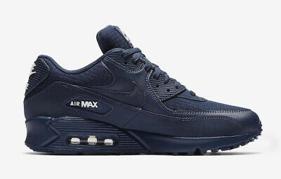 Nike Air Max 90 Essential All Triple Midnight Navy Blue White AJ1285-404 Size