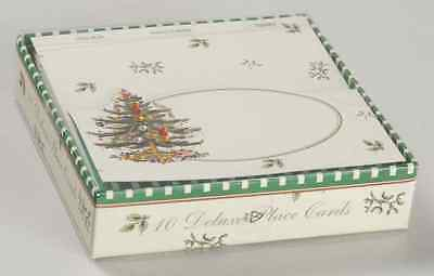 Spode CHRISTMAS TREE Set Of 10 Deluxe Place Cards 8611212