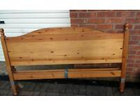 King Sized Pine Bed