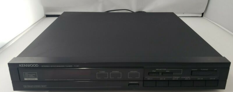 Kenwood T-31 AM-FM tuner - Great condition! Tested Works Great