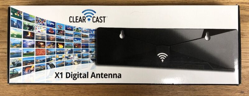 A13 Sealed in Box Genuine Clear Cast Solid Black X1 Digital Television Antenna