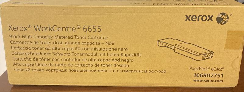 XEROX 6655 106R02751 Black High Capacity Toner Sealed Box