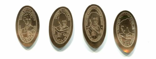 HAWAII ELONGATED CENTS: Hawaiian Monarchy, Series IV, 4-copper cents