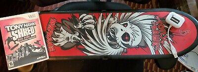 XBOX 360 Activision Tony Hawk Shred Game & Birdhouse Skateboard Board Controller