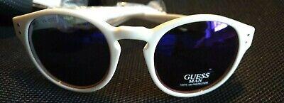 Gu 6794 Guess coole Sonnenbrille Herren mit violettem Glas weißer Rahmen