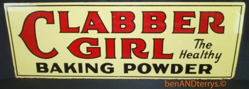 Clabber Girl The Healthier Baking Powder Double Sided Vintage Sign