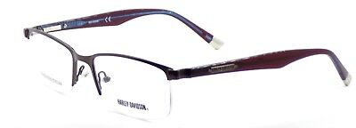 Harley Davidson HD710 BRN Men's Half-Rim Eyeglasses Frames 55-18-145 Brown +CASE