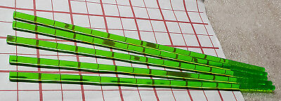 5 Clear Green 14 Diameter 12 Inch Long Acrylic Plexiglass Plastic Color Rod