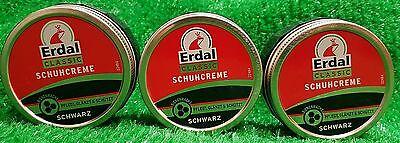 (3,60€/100ml) 3x Erdal ORIGINAL SCHUHCREME SCHWARZ 75ml Dose gratis Versand