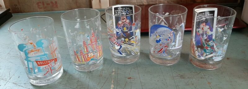 Vintage McDonalds Walt Disney 5 Glasses Lot