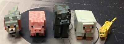 Mojang Jazwares MineCraft Animal Action Figures Lot Of 5 Video Game Toys