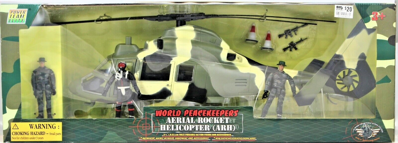Power Team Elite World Peace Keepers - Aerial Rocket Helicop