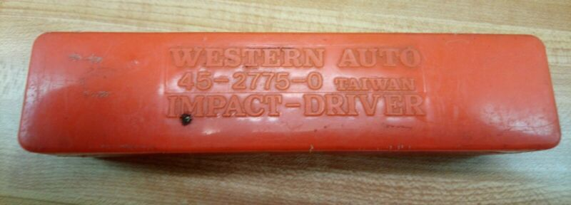 VINTAGE WESTERN AUTO IMPACT DRIVER 45-2775-0 TOOL WITH CASE AND BITS NR