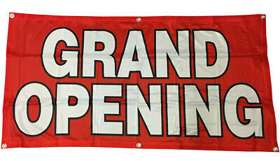 Grand Opening Banner Sign Vinyl Alternative Store Sale 2x4 Ft - Fabric Rb