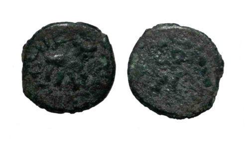 (10894) Rare Bukhara Soghd AE coin, Varakhsha, unknown ruler.-RRR