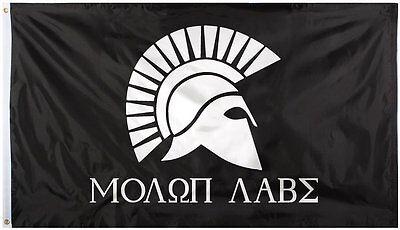 Molon Labe Flag 2' x 3' Black 1517 Rothco