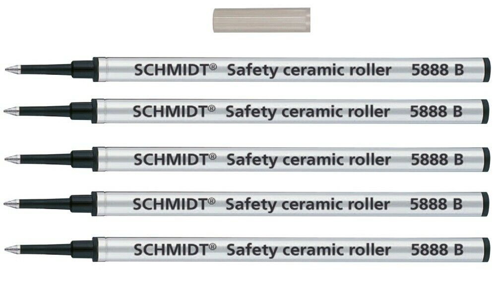 5 Pack, Rollerball Refills for Waterford Pens, Bold Point, Made In Germany, New Collectibles