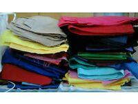Cotton, poly cotton fabric cut offs 10 kg