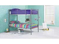 Samuel Single Bunkbed - Silver