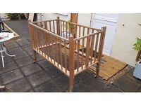 Vintage (1950s?) folding cot on casters - upcycle?
