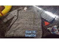 Size 16 jumper/top