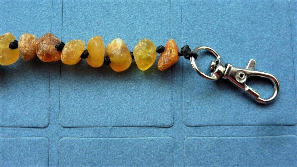 Bernsteinkette Hund 20-62 cm Halsband aus Bernstein roh für Hunde Hundehalsband