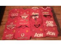Job Lot 12 Manchester United Football Shirts Bundle Adults Home Shirt Jerseys